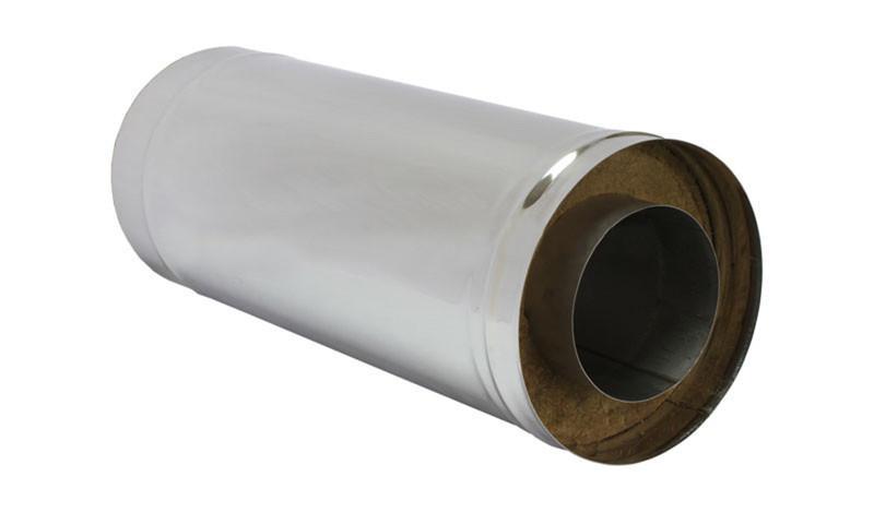 Сэндвич-труба — 0,5 м — 115 / 200 — Нерж 1 мм / Нерж 0,5 мм