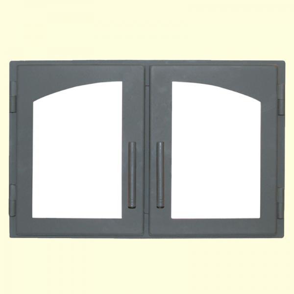 Дверца каминная двойная арка 544*345