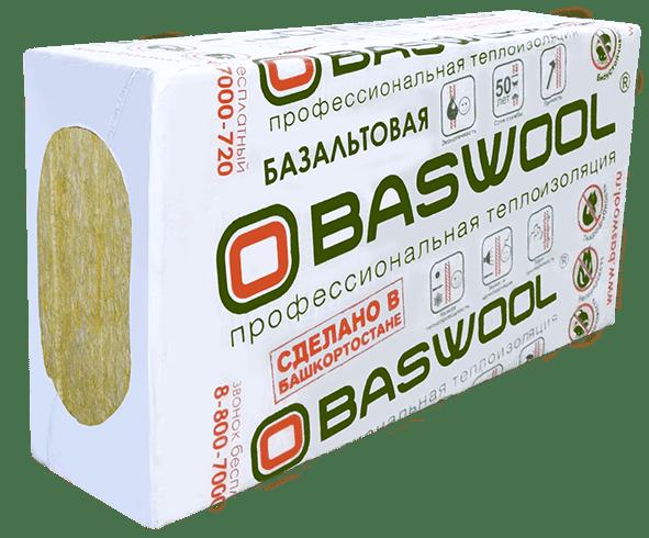 "Утеплитель ""BASWOOL"" 45  1200*600*100 (0,432м3;4,32 м2)"