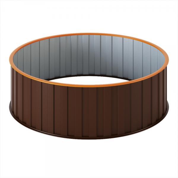 Грядка диаметр 1,0м. (круглая) Корич.