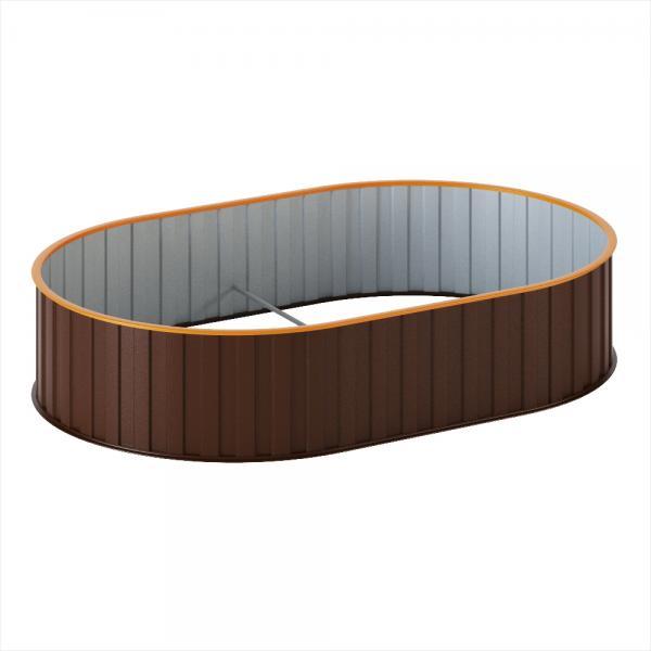 Грядка диаметр 1,5м. (300х1000х1500) Корич.