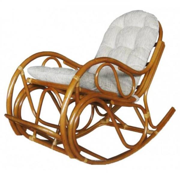 Кресло-качалка Маргонда с подушкой (орех)