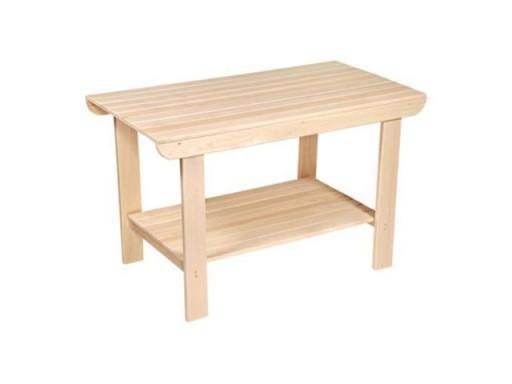 Стол с полкой 1,2 м (липа)