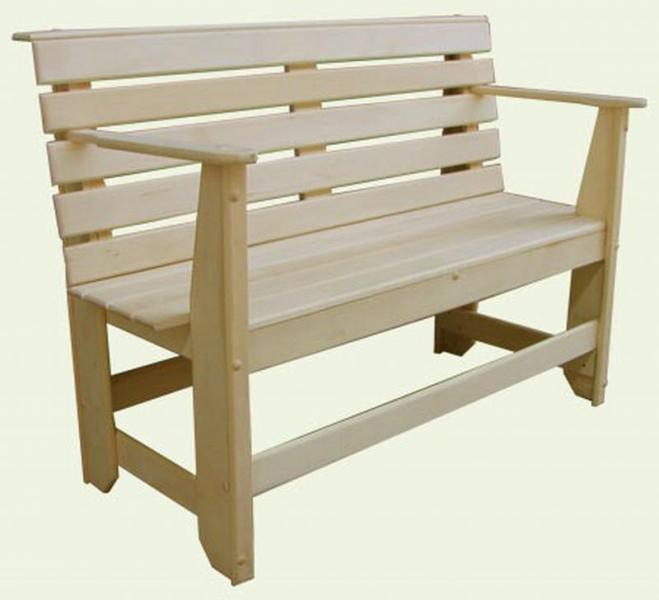 Скамья с подлокотниками 1,2м (липа)