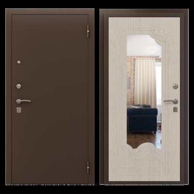 """Дверь мет. """"Арго Зеркало"""" Медь/сосна прованс  прав/лев"""
