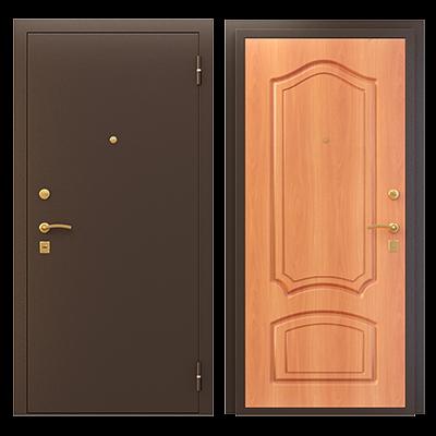 """Дверь мет. """"Трехконтурная ПФ Классика"""" Медь/мил. орех лев/прав"""