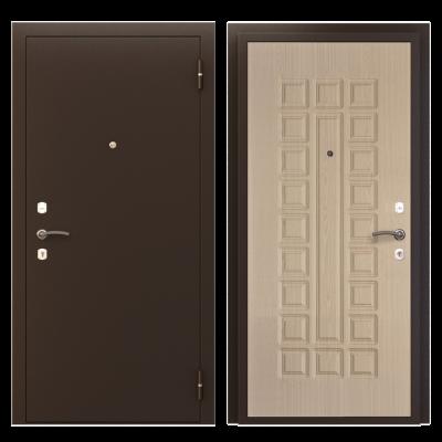 """Дверь мет. """"Престиж"""" Медь/св.венге лев/прав"""