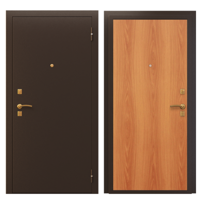 """Дверь мет. """"Стандарт ПФ Классика"""" Медь/мил. орех  лев/прав"""