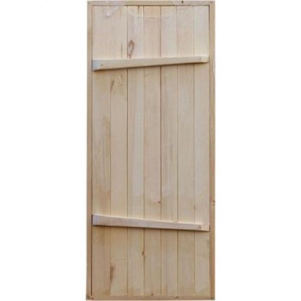 Дверь банная с раскосиной ОСИНА