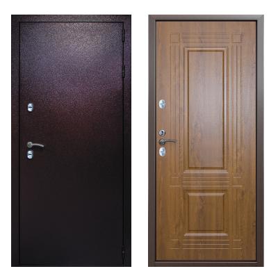 Дверь мет. Непромерзающая дверь ДС 3К Тепло 14Т09 05 (непром.) Зол.дуб 2050*860 лев.(8)