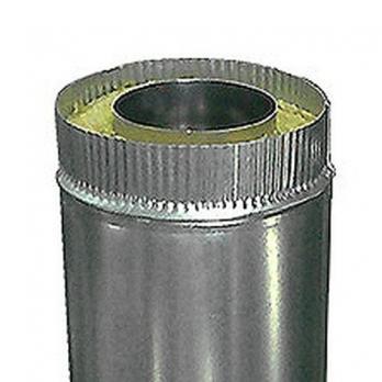 Сэндвич-труба — 0,5 м — 100 / 200 — Нерж 0,5 мм / Оцинковка