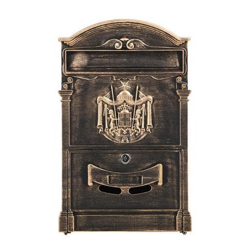 Ящик почтовый № 4010В старая бронза