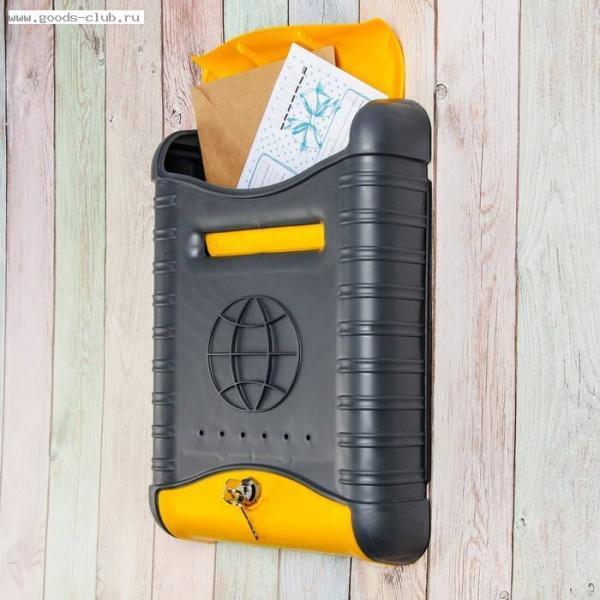Ящик почтовый Серо-жёлтый Стандарт