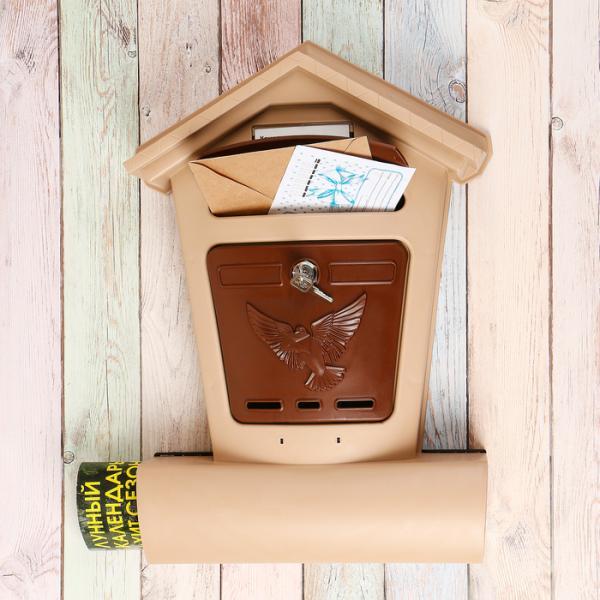 Ящик почтовый Элит беж  с корич