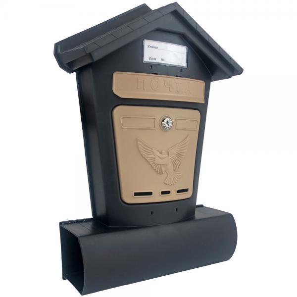 Ящик почтовый Элит чёрн с беж