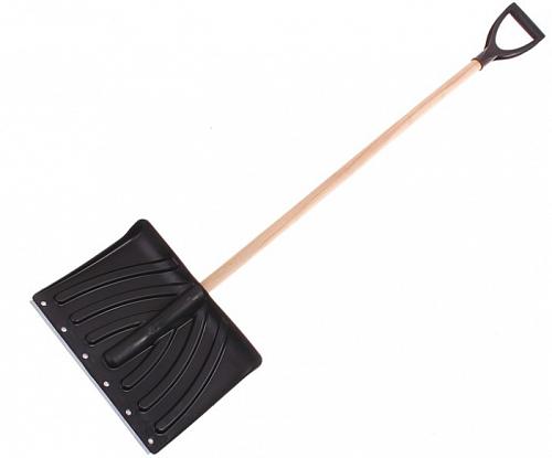 Лопата снеговая Ирбит с дер. чер цвет.