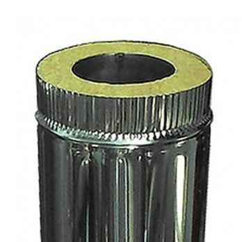 Сэндвич-труба — 1 м — 140 / 220 — Нерж 0,5 мм / Нерж 0,5 мм