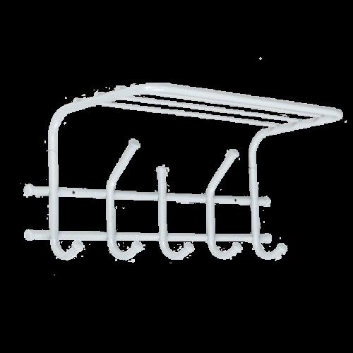 Вешалка с полкой ЭРА-5 Белое серебро ВСП 278 М (5)