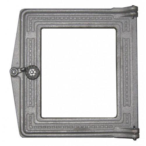 Дверка топочная ДТ-4 С крашенная+стекло