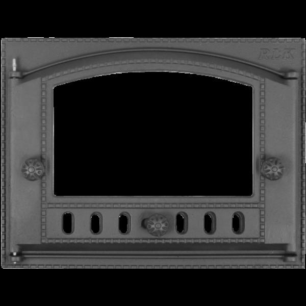 Дверца каминная ДК-2С крашенная+стекло (Р)