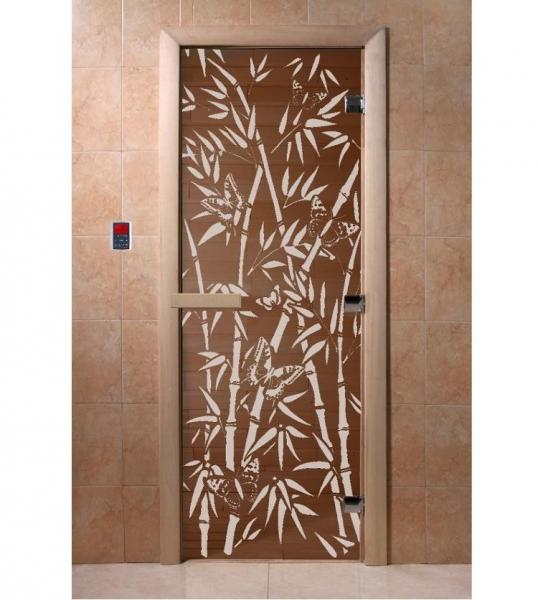 "Дверь ""DoorWood ""Бамбук и бабочки"" 1900х700 бронза 6мм."