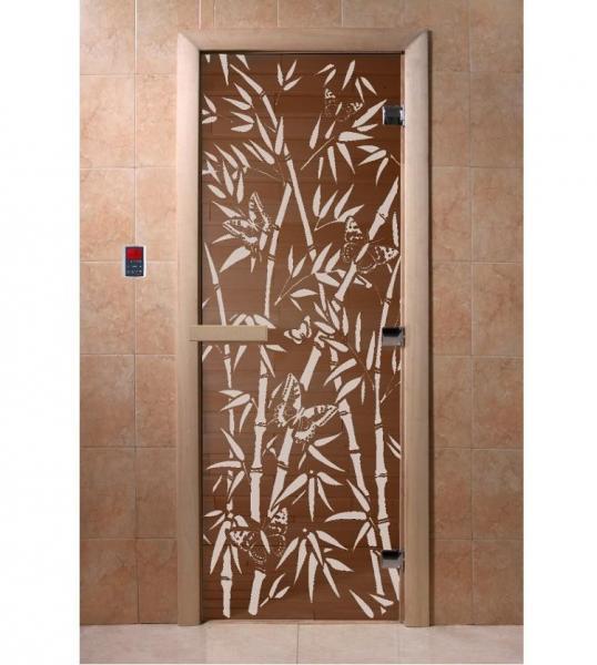 "Дверь ""DoorWood ""Бамбук и бабочки"" 1900х700 прозр. 8мм."