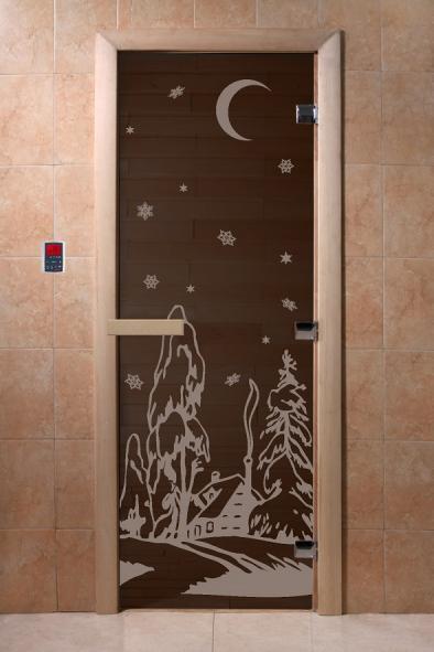 """Дверь """"DoorWood """"Зима"""" 1900х700 бронза 6мм."""
