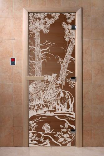 """Дверь """"DoorWood """"Мишки"""" 1800х700 бронза 8мм."""