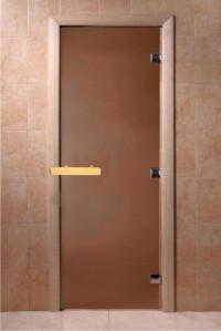 "Дверь ""DoorWood бронза матовая 1900х700 (круг. ручка) 6мм."