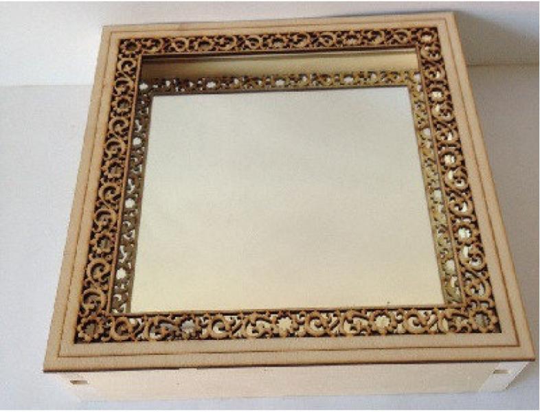 Зеркало квадратное резное (малое) (3К-1М)