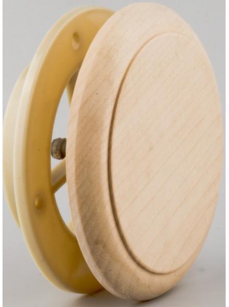 Клапан тарельчатый термопласт d=125мм (липа)