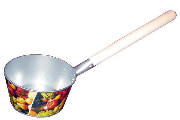 Ковш 1,5л оц.  банный с декором (10)