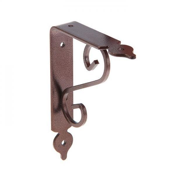 Кронштейн декоративный 110х140мм (тип2), коричневый 882361