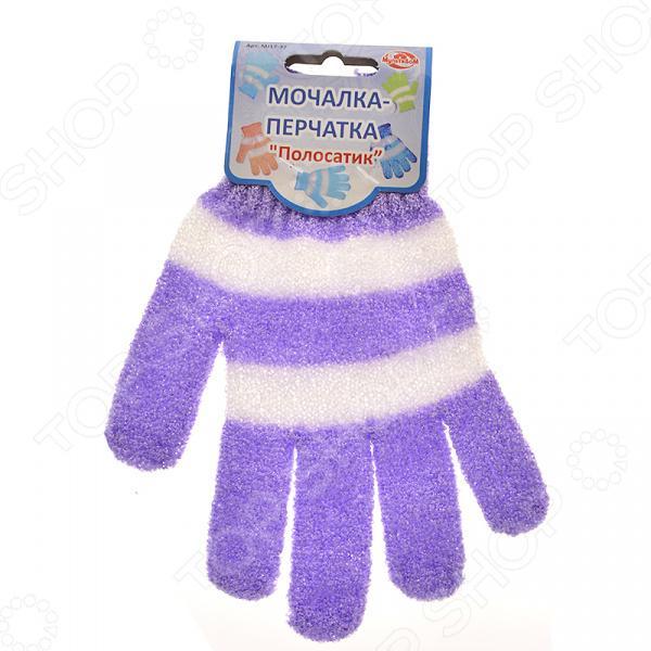 Мочалка-перчатка Полосатик MJ-17-37 (24/1)