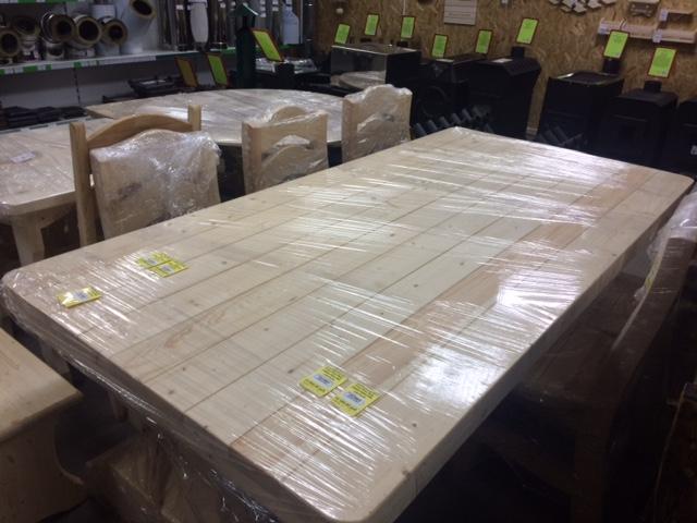 Набор Рош-Фор стол (2000х1000х760)+ 6 стульев (светлый)