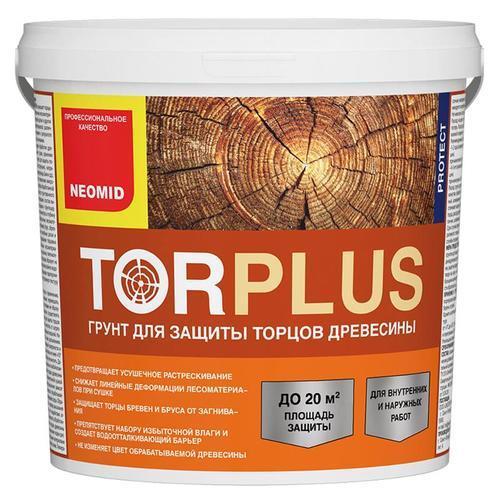 Неомид Грунт для защиты торцов древесины TOR plus 5 кг.
