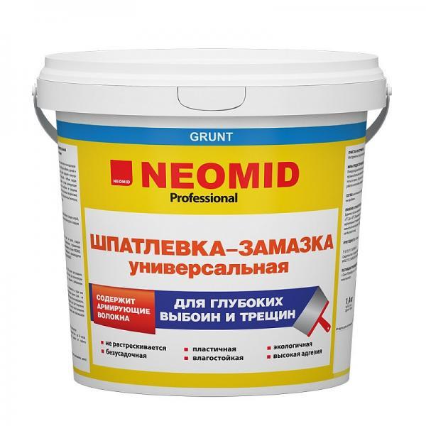 Неомид шпаклевка для выбоин и трещин 1,4 кг