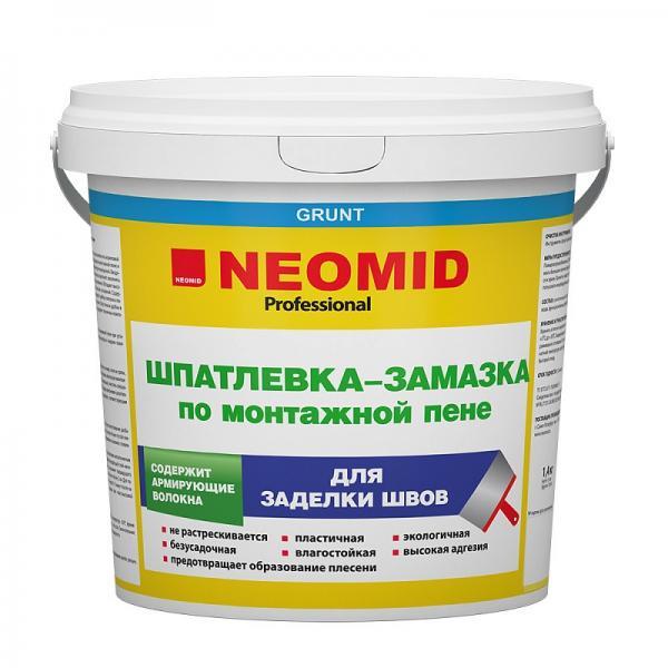 Неомид шпаклевка по монтажной пене 1,4 кг