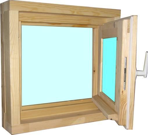 """Окно """"с наплывом"""" квартирные 40*40 одно стекло"""