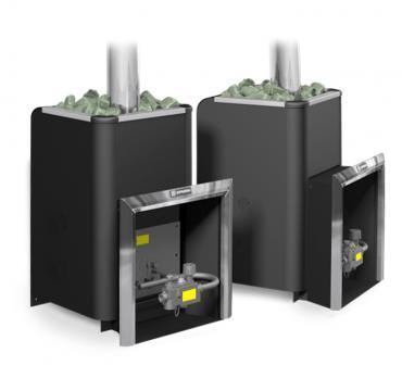 Банная газовая печь Уралочка 12 с автоматикой