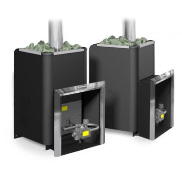 Банная газовая печь Уралочка 16 с автоматикой