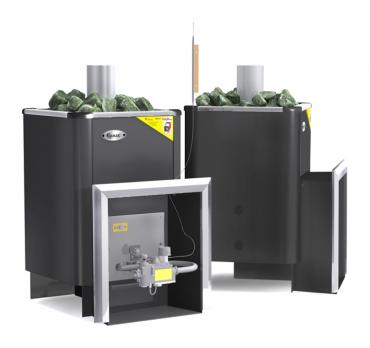 Банная газовая печь Уралочка 20 с автоматикой
