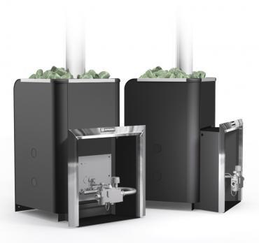 Банная газовая печь Уралочка 24 с автоматикой