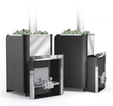 Банная газовая печь Уралочка 24Н с автоматикой
