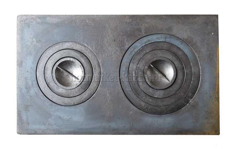 Плита чугунная П2-5 2-комф. 760*455