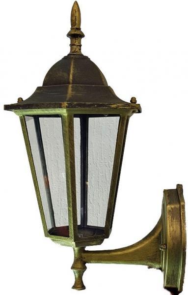 Светильник садовый  6101 настенный чёрное золото 60w