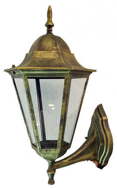 Светильник садовый 6201 настенный  чёрное золото вверх Шесть Граней  100w