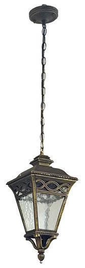 Светильник садовый 9043 подвесной чёрное золото medium