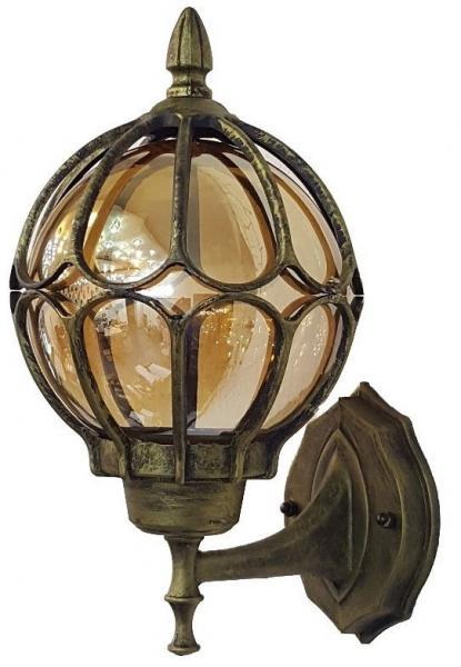 Светильник садовый 9681S настенный чёрное золото