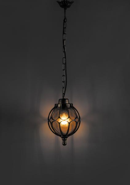 Светильник садовый 9683S подвесной чёрное золото60w